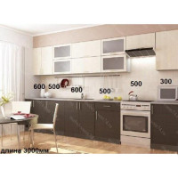 Кухня  Максимус Черно-Белая