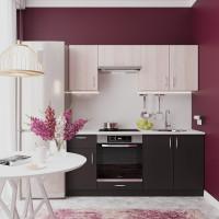 Кухня Рита. Цвет: Белый дуб+Венге