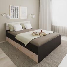 Кровать 120 с ящиками и мягкой накладкой