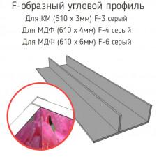 Стыковочная планка для фартука (F-3 серый,F-4 серый,F-6 серый)