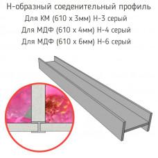 Стыковочная планка для фартука (H-3 серый,H-4 серый,H-6 серый)