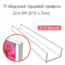 Стыковочная планка для фартука (П-3 белый)