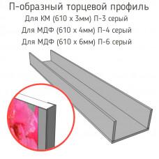 Стыковочная планка для фартука (П-3 серый,П-4 серый,П-6 серый)