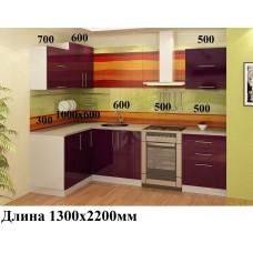 "Кухня, модель ""МДФ-Баклажан-2"""