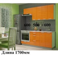 "Кухня, модель ""Мдф-Горизонт-1-Оранж"""
