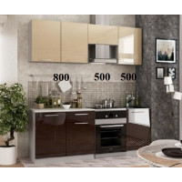 """Кухня, модель """"МДФ-Малибу-1-Шоколад"""""""