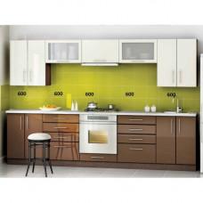 Кухня, модель Светлый Шоколад-1 МДФ