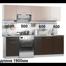 """Кухня, модель """"МДФ-Венге+Свет.Дуб-5"""""""