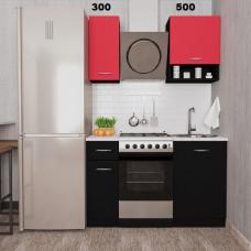 """Кухня  """"Мини-6"""" Черный+Красный"""
